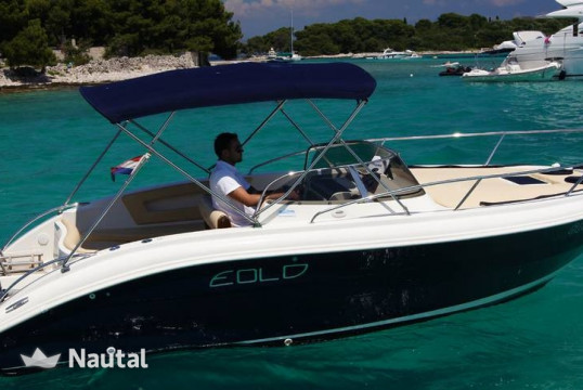 Motorboat rent Custom Eolo 650 in Port Trogir, Split, Hvar