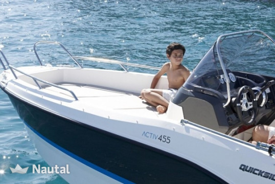 Motorboat rent Quicksilver 455 Open in Port Hvar, Split, Hvar