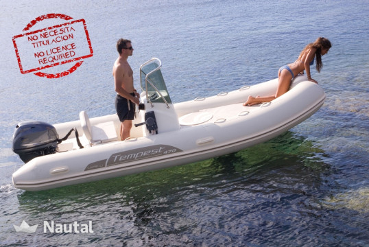License free boat rent Capelli Tempest 470 in Port de Sant Antoni, Ibiza
