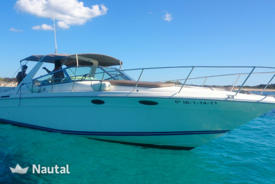 Motorboat rent Sea Ray Sun Sport 40 in Port d'Eivissa, Ibiza