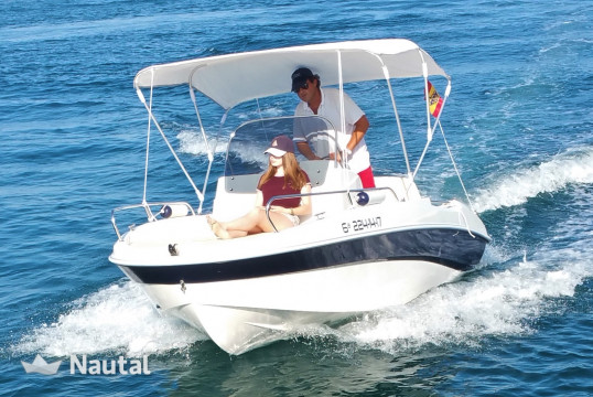 License free boat rent Marinello REMUS 450 in Puerto Deportivo Marina Salinas, Alicante