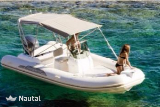 Rib rent Moody ASSO 620 in Port de Sant Antoni, Ibiza