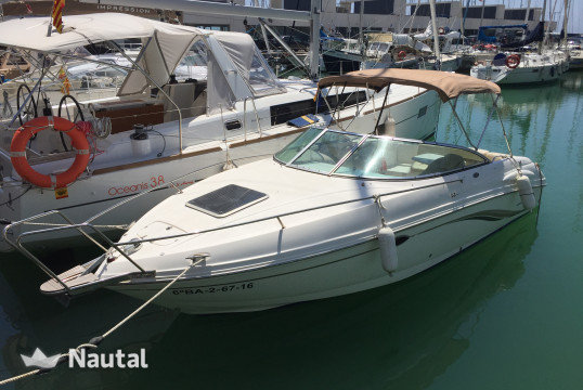 Motorboat rent Chaparral 235 SSI in Port Ginesta, Barcelona