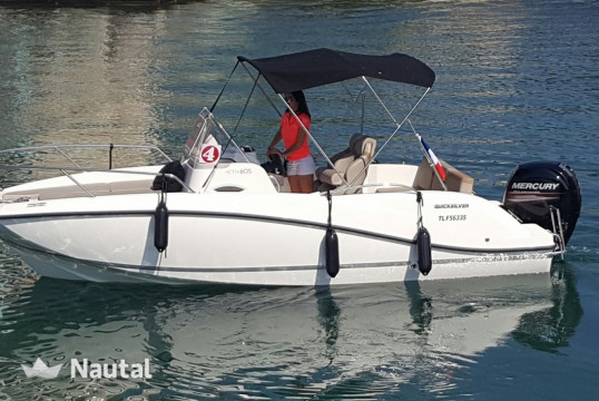 Motorboat rent Quicksilver ACTIV 605 SUN-DECK in Fréjus, Var