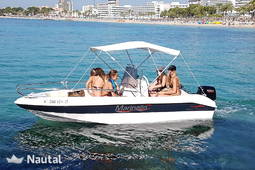 Alquilar barco sin licencia Marinello Open Happy Fishing en Club Nautico San Antonio, Mallorca