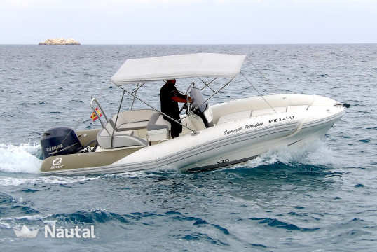 Rib rent Zodiac NZO 600 in Port d'Eivissa, Ibiza
