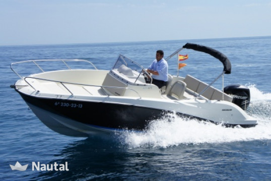 Huur motorboot Quicksilver 6.75 activ open in Port Vauban, Alpi Marittime - Antibes