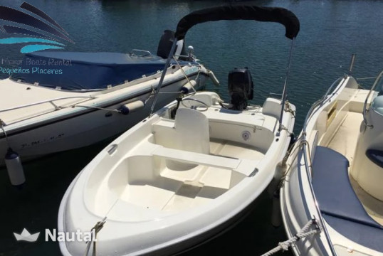 License free boat rent Quicksilver 400 Fish in Club Náutico Cala Gamba, Mallorca