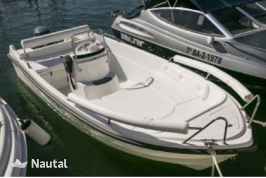 License free boat rent Custom Solar Congo 450 in Sitges, Barcelona