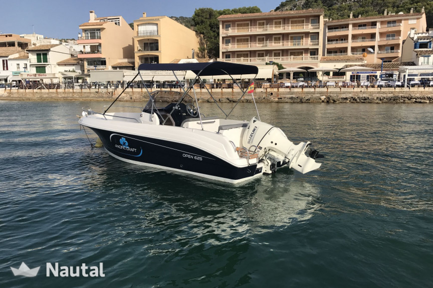Motorboat rent Pacific Craft 625 in Port d'Andratx, Mallorca