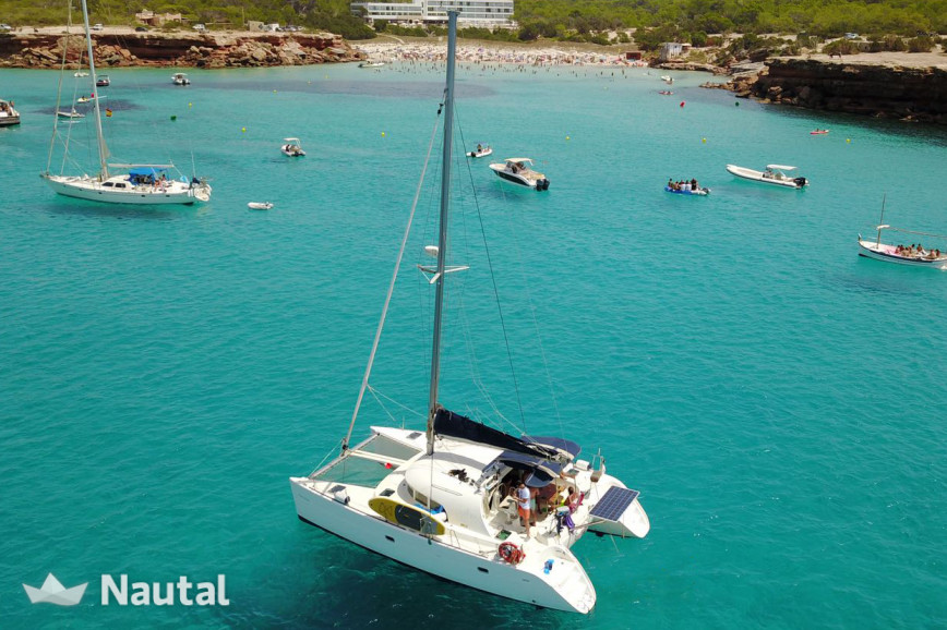 Catamaran rent Lagoon 380 in Port de Sant Antoni, Ibiza