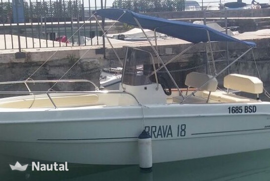 License free boat rent Mingolla Brava 18 Open in Porto di Moniga del Garda, Lake of Garda