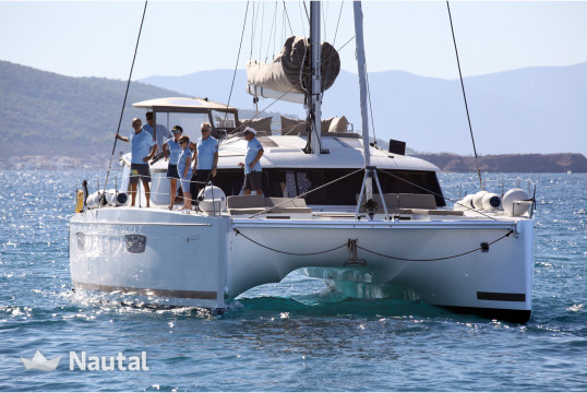 Catamaran rent Fountaine Pajot SABA 50 in Flisvos Marina, Athens