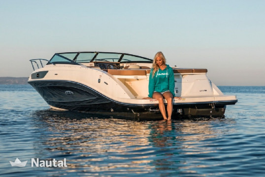 Motorboat rent Sea Ray 230 SS in Barbat, Rab