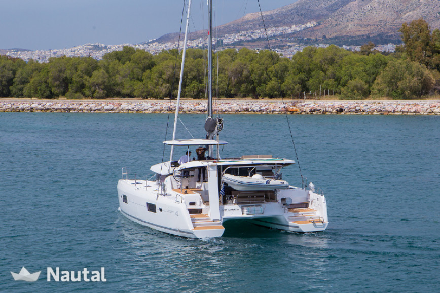 Catamaran rent Lagoon  42 in Marina of Lefkas, Lefkas