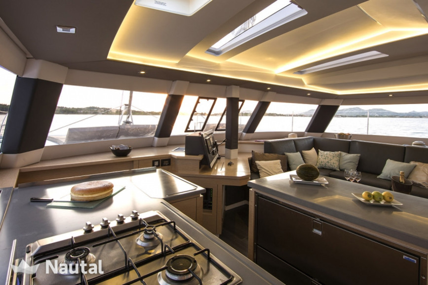 Huur catamaran Fountaine Pajot  Saba 50 - 6 + 2 cab. in Port Trogir, Split en Hvar
