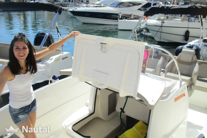 Motorboat rent Quicksilver 555 Open in Fréjus, Var