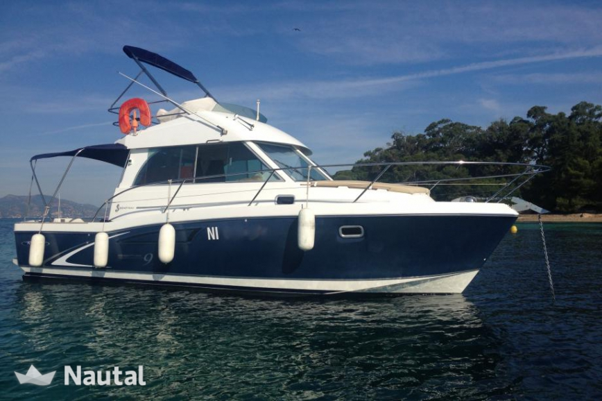 Fishing boat rent beneteau antares serie 9 in port la for Fishing boat rentals near me