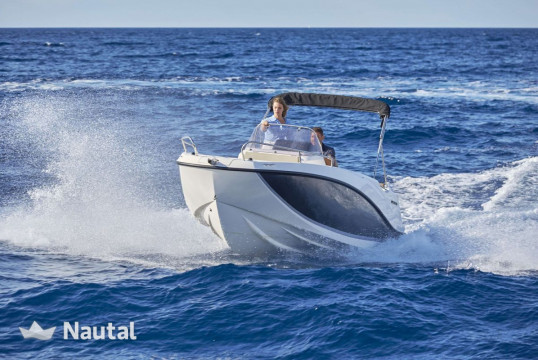Motorboat rent Quicksilver Activ 555  in Port Trogir, Split, Hvar