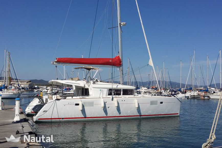 Catamaran rent Lagoon  450 in Marina of Lefkas, Lefkas