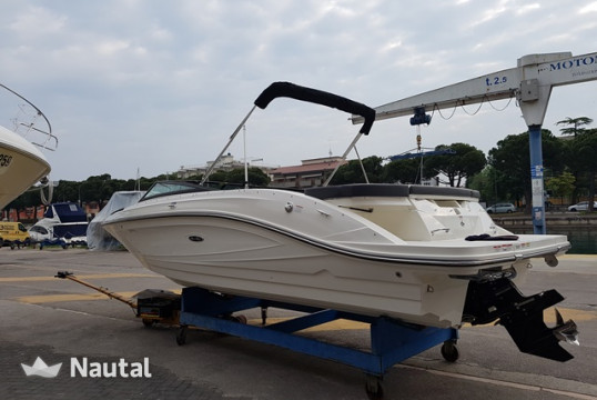 Motorboat rent Sea Ray 230SPXE in Porto Peschiera del Garda, Lake of Garda