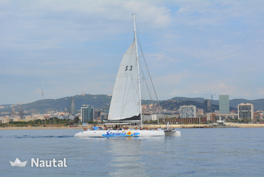 Catamaran rent Ocean Voyager CAT125 in Port Olímpic, Barcelona