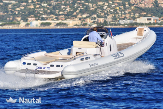 Rib rent Sacs Stratos in Talamanca, Ibiza