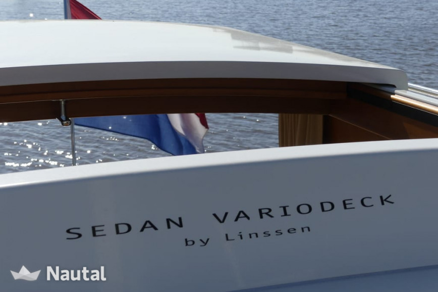 License free boat rent Linssen Grand Sturdy 25.9 Variotop in Burgemeester de Hooppark, Friesland