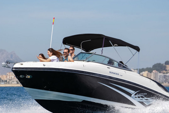 Motorboat rent Rinker RINKER 246 BOW RIDER in Port de Sant Antoni, Ibiza