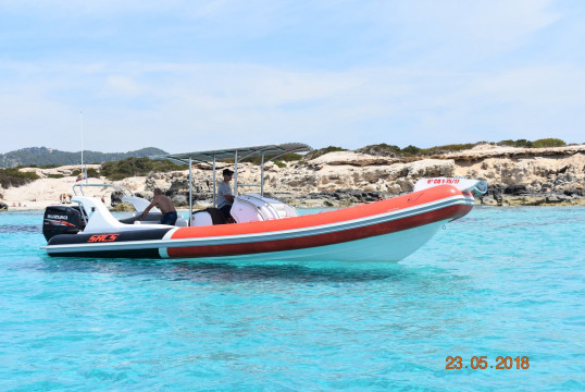 Rib rent Sacs Samurai 870 in Port d'Eivissa, Ibiza