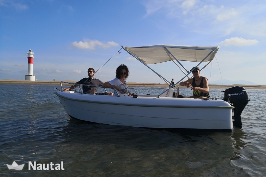 License free boat rent ESTABLE 4,20 in L'Ampolla, Tarragona