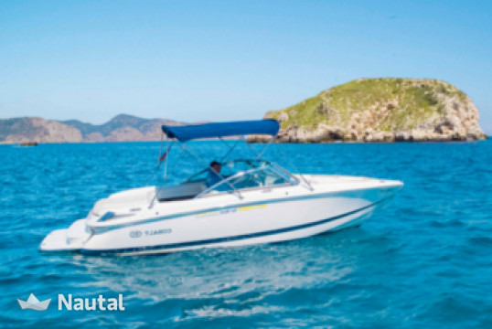 Motorboat rent Cobalt 210 Bowrider in Port Adriano, Mallorca
