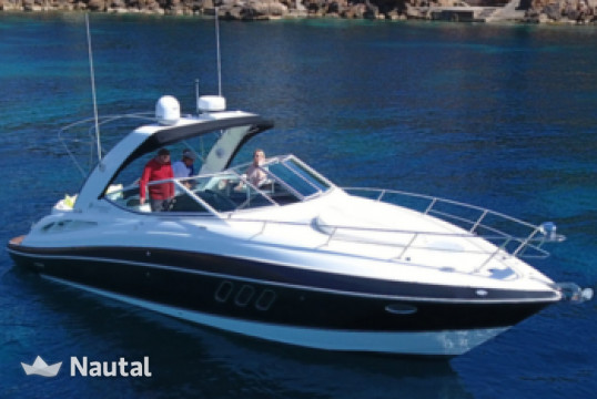 Motorboat rent Cruisers Yachts Express 330 in Port Adriano, Mallorca