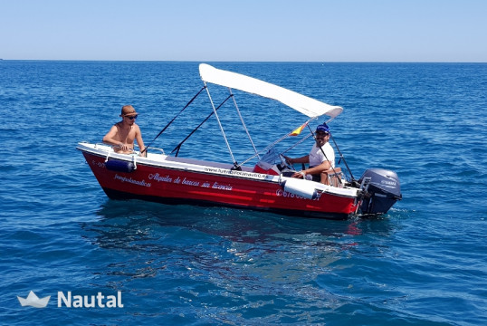 License free boat rent Marco Remus 420 in Fuengirola, Málaga