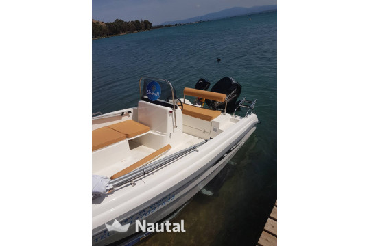 License free boat rent Karel Boat 4.50 OPEN in Nea Makri, Athens