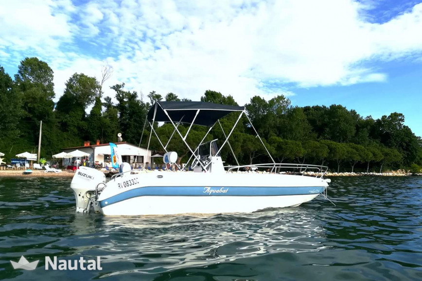 License free boat rent Aquamar Sport line 19 in Pacengo, Lake of Garda