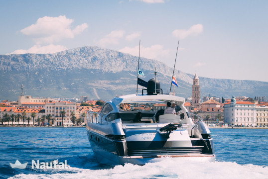 Motorboat rent Ferretti Yachts Group Pershing 50 in Marina Kastela, Split, Hvar
