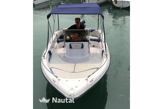 License free boat rent Ranieri 17 in Porto di Moniga del Garda, Lake of Garda