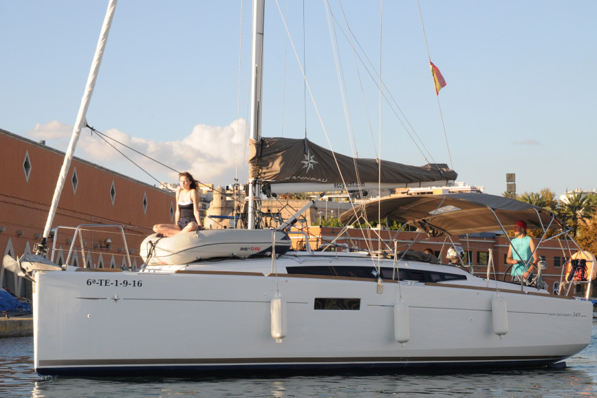 Sailing boat rent Jeanneau Sun Odyssey 349 in Las Galletas, Tenerife