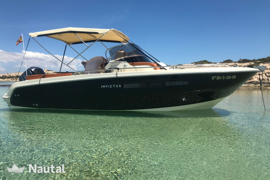 Motorboat rent Invictus Yacht 240 CX in Santa Eulàlia, Ibiza