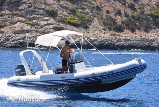 Huur rib Zodiac Medline 2 in Porroig, Ibiza