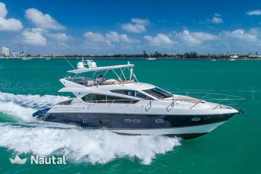 Yacht rent Sunseeker 70' Manhattan in Miami Beach, South Florida