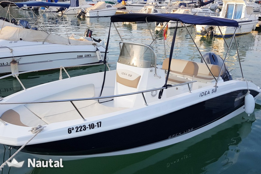 Motorboat rent Marine Idea 58 Open Line in Puerto de Alicante, Alicante