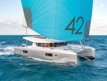 Rent this catamaran with 7 Cabins and sail with comfort