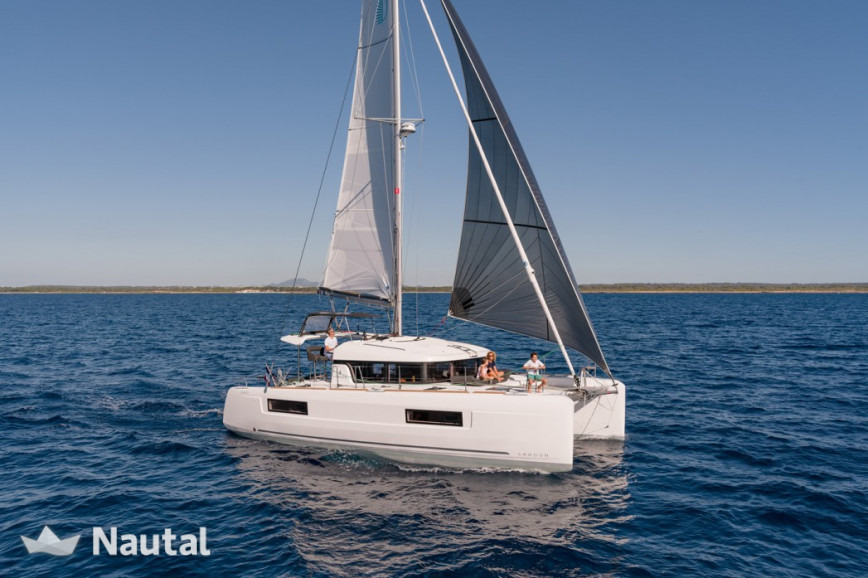 Catamaran rent Lagoon  40 in Marina Porto Antico, Liguria