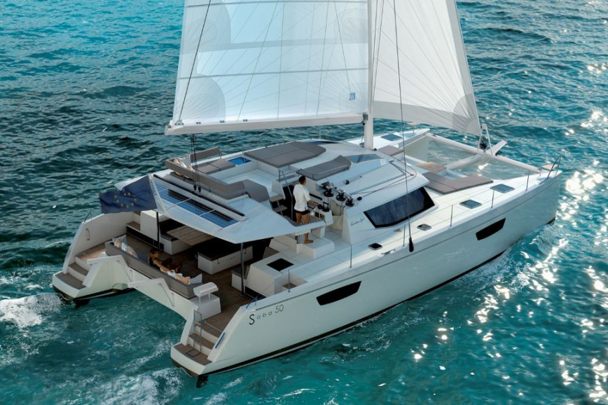Catamaran rent Fountaine Pajot  Saba 50 - 6 + 1 cab. in Baotić Marina, Split, Hvar