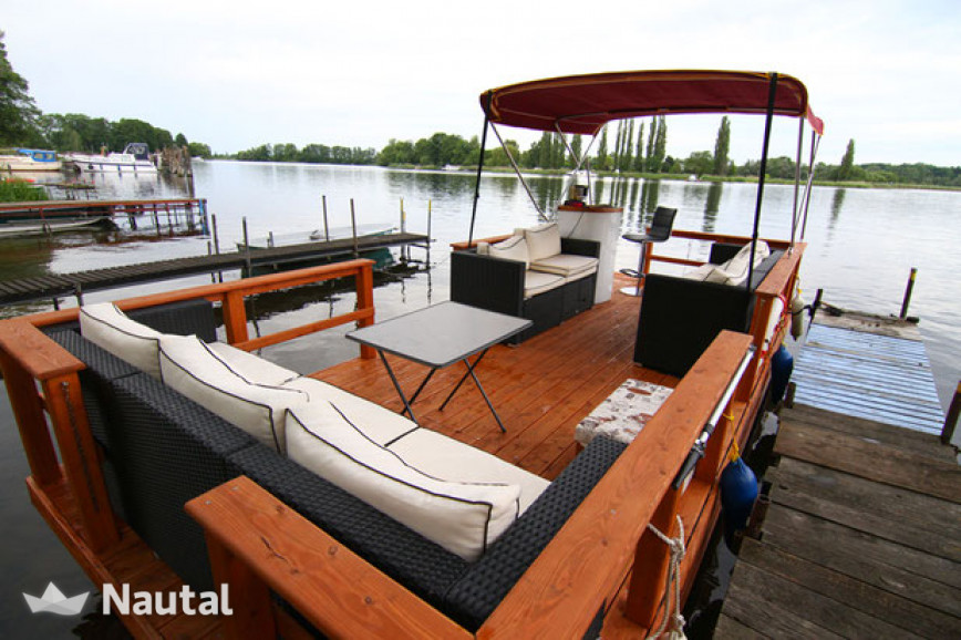 louer bateau sans permis custom pontonboot sunlounge 1 werder brandebourg havel nautal. Black Bedroom Furniture Sets. Home Design Ideas