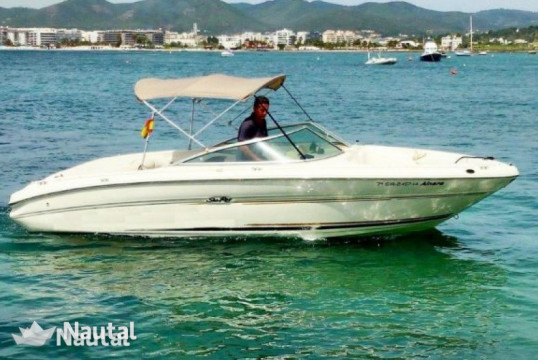 Motorboat rent Sea Ray 210 in Port de Sant Antoni, Ibiza