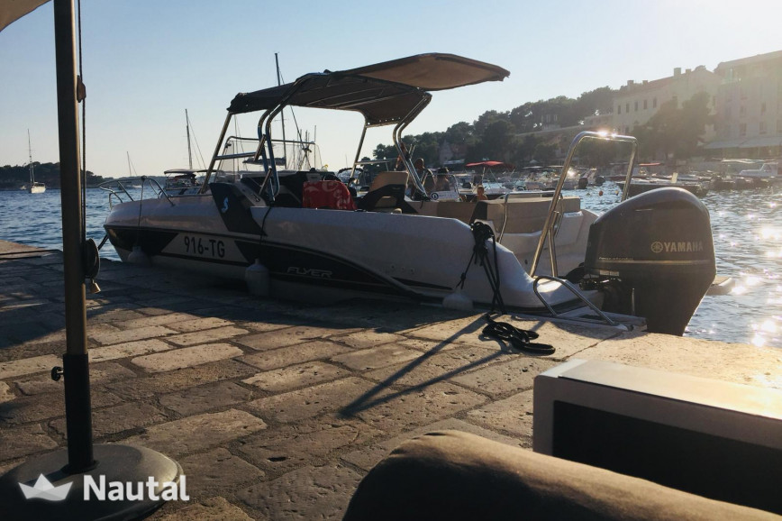 Motorboat rent Beneteau Flyer 7.7 Sundeck in Port Trogir, Split, Hvar