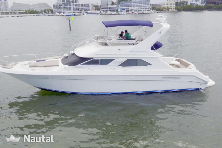 Yacht rent Sea Ray 44' in Downtown Miami, South Florida